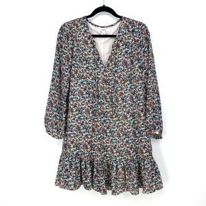 J. Crew Factory Sz S Relaxed Floral Print Dress
